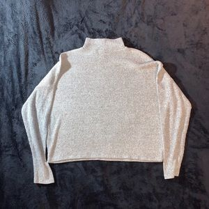 Derek Heart Grey Turtleneck Long-Sleeve Crop Top